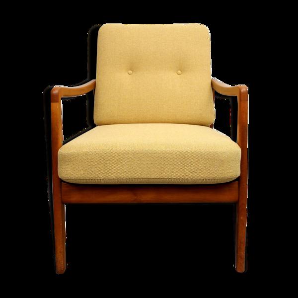Fauteuil des années 1950 Ole Wanscher jaune, FD109
