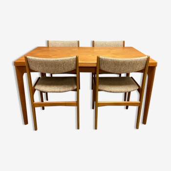 Ensemble table et chaises design scandinave 1950