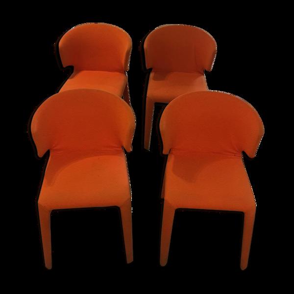Selency Lot de 4 chaises Hola de Cassina