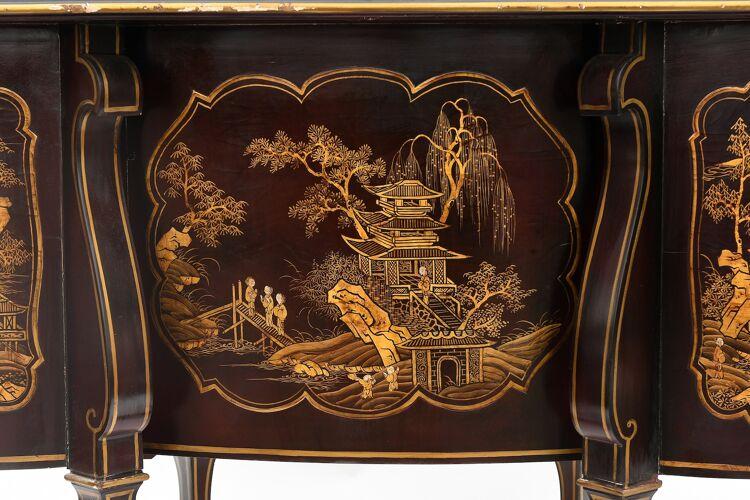 Bureau Mazarin en bois laqué Style Louis XIV