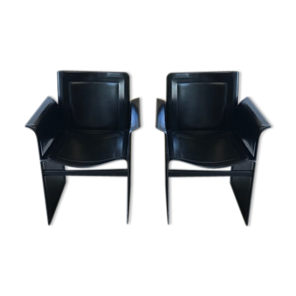 Selency Paire de fauteuils design Italien