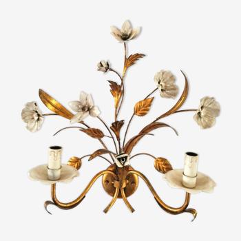Applique fleur et feuille design années 70