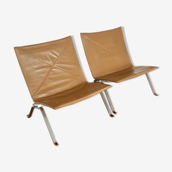 Paire de fauteuils PK22 de Poul Kjorholm pour Kold Christensen