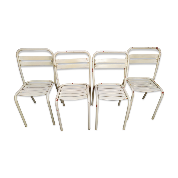Selency Lot de 4 chaises Tolix T2 de Xavier Pauchard 1950