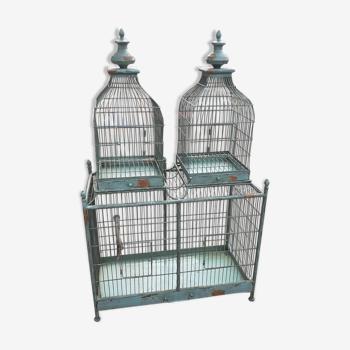 Cage oiseau en métal ancienne vintage xxeme
