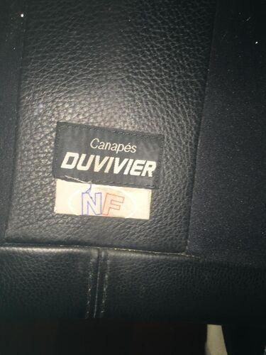 Canapé Duvivier Maillol cuir noir