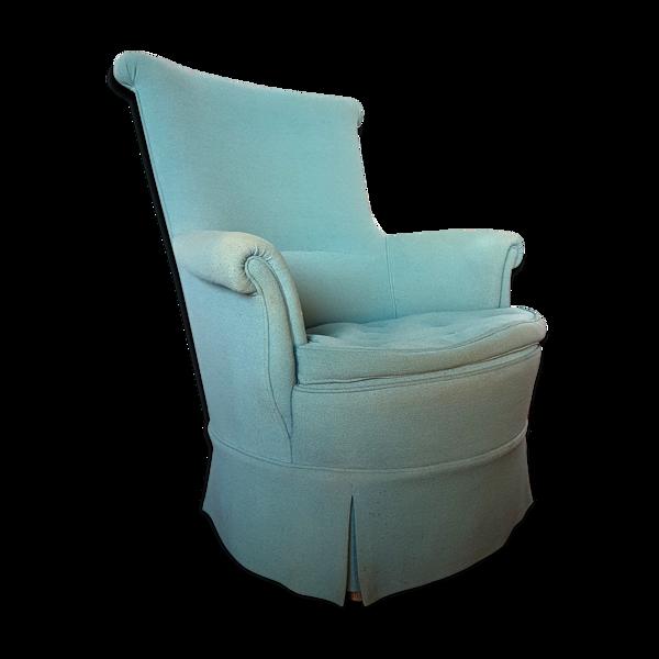 Fauteuil bleu années 1950