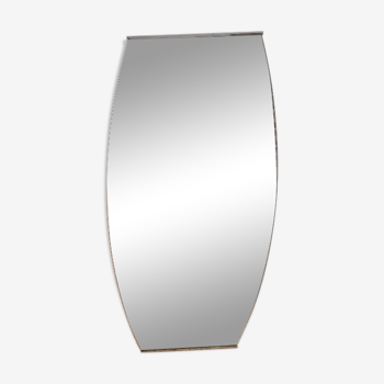 Miroir forme obus 1960 45x92cm
