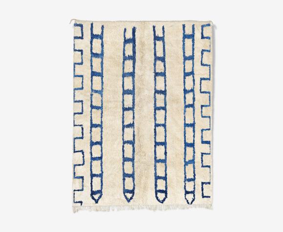 Tapis marocain moderne blanc 90x150cm