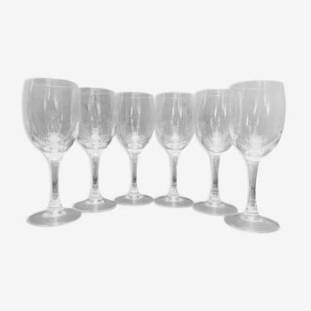 Suite de 6 verres à pied en cristal