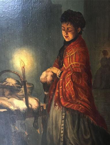 """Pendant de tableaux """"Marché de nuit"""" cf.Andreas Franciscus Vermeulen (1821-1884)"""