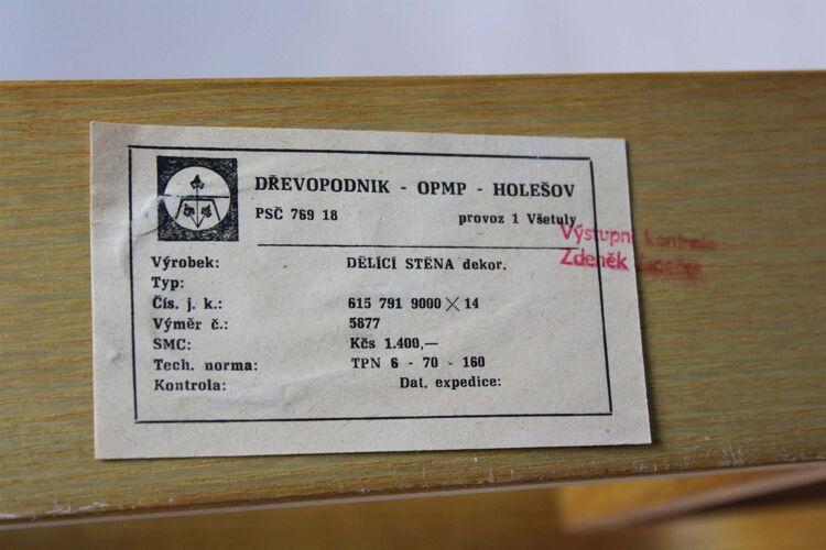 Claustra par Ludvik Volak pour Drevopodnik Holesov années 1960
