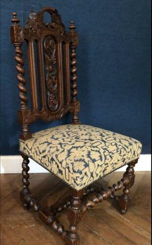 Salon complet 5 pièces canapé et 4 chaises style Henry II