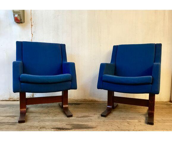 Paire de fauteuils du conseil de L'Europe de Strasbourg