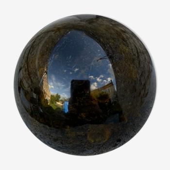Boule en verre sulfure verre soufflé et bulle verrerie de biot vintage