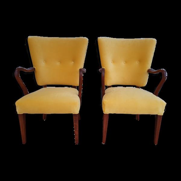 Selency Paire de fauteuils danois Alfred Christensen, 1960