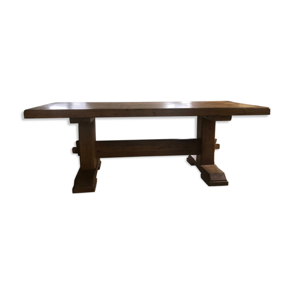 Selency Table monastère vintage en chêne