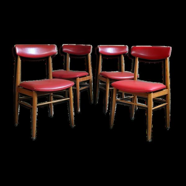 Selency Set de 4 chaises vintage esprit Chrobat & Sax