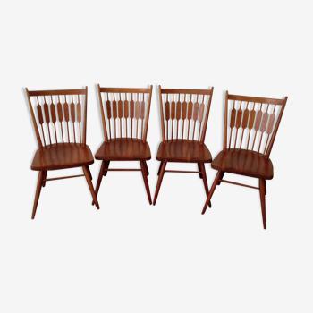 Série de 4 chaises Centennial Kipp Stewart pour Drexel 1950