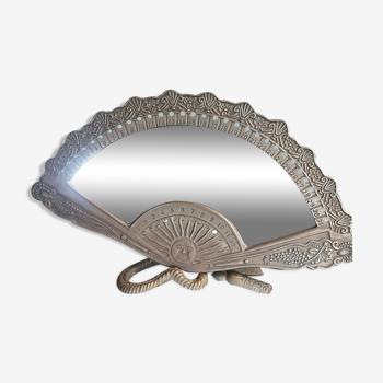 Miroir en métal laiton vintage 28x17cm