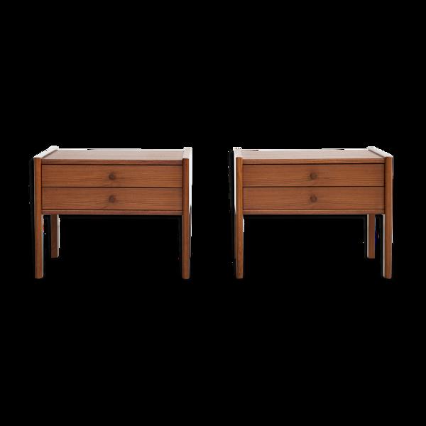 Selency Paire de tables de chevet danoises du milieu des années 1960 en teck