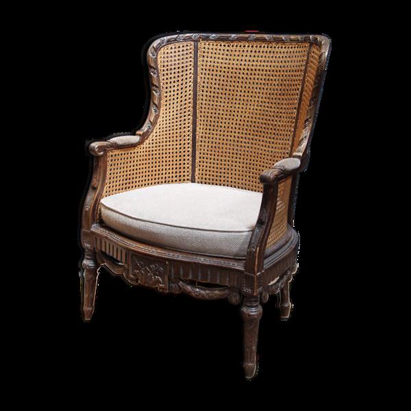 Bergère cannées style Louis XVI