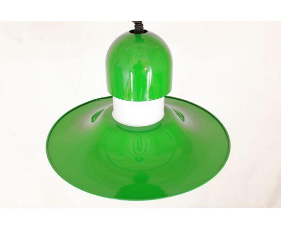 Suspension verte vintage des années 1970