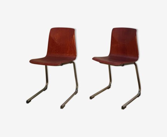 2 chaises Pagholz années 60