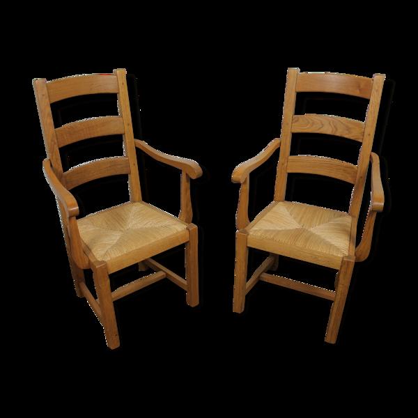Paire de fauteuils ardèchois