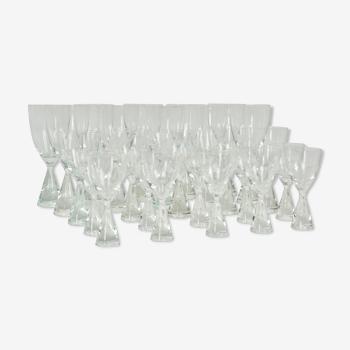 Serie de 26 verres de Bent Severin pour Holmegaard