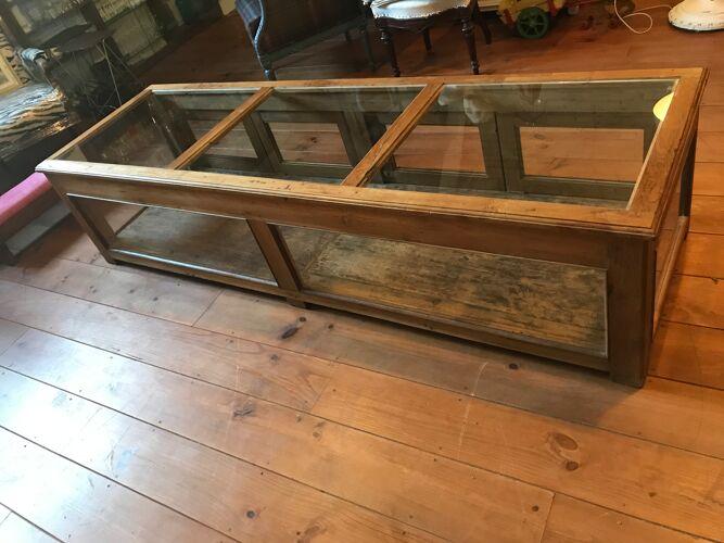 Meuble vitrine bois et verre