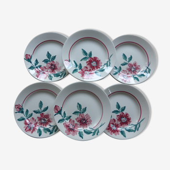 Set de 6 assiettes plates de la manufacture de Sarreguemines modèle Monceau 200212