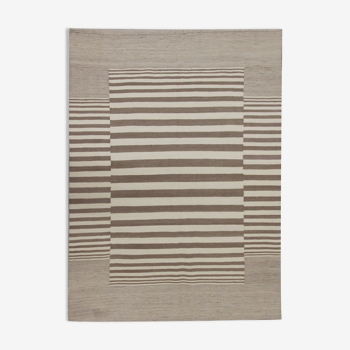Tapis contemporain en laine moderne Kilim Handmade Kilim - 155x193cm