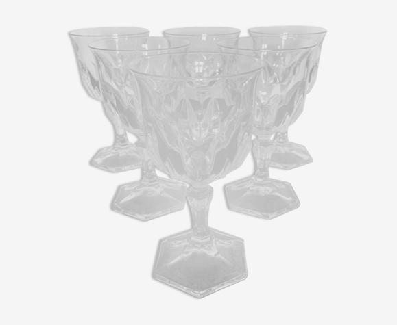 6 verres à vin cristal d'Arques