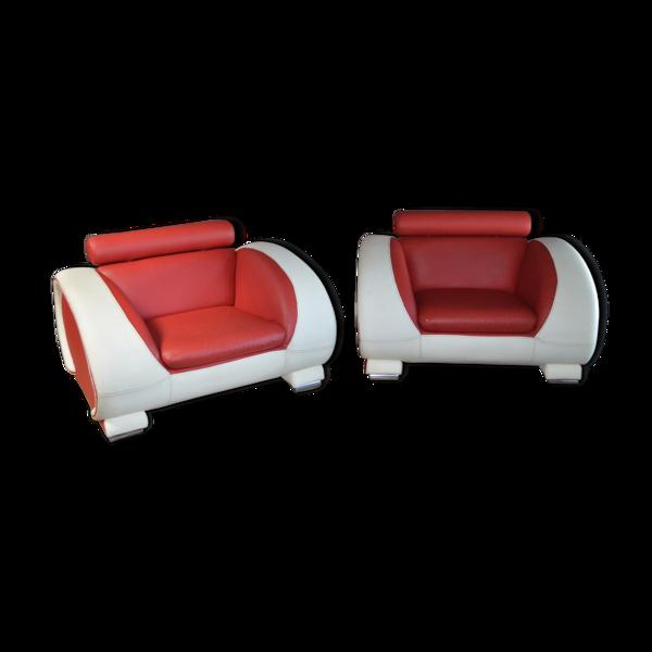 Selency Paire de fauteuils années 70