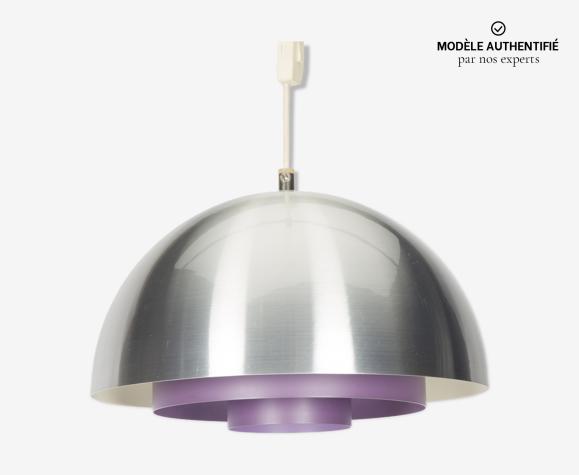 Purple hanging lamp by Jo Hammerborg for Fog & Morup