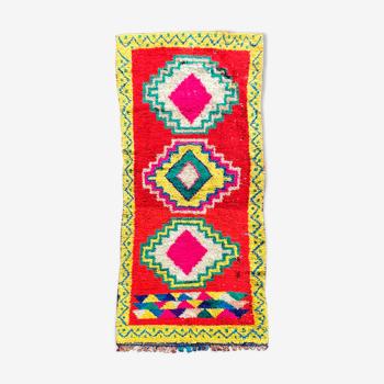 Tapis berbere boucherouite  110x250 cm