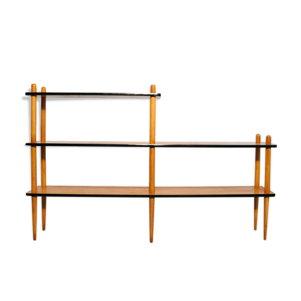 Armoire à bâtons en bois vierge (stokkenkast), néerlandais des années 1960