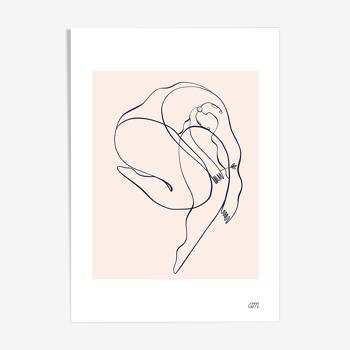 """Illustration N°06 """" Alizé """" collection """" Les divinités """""""