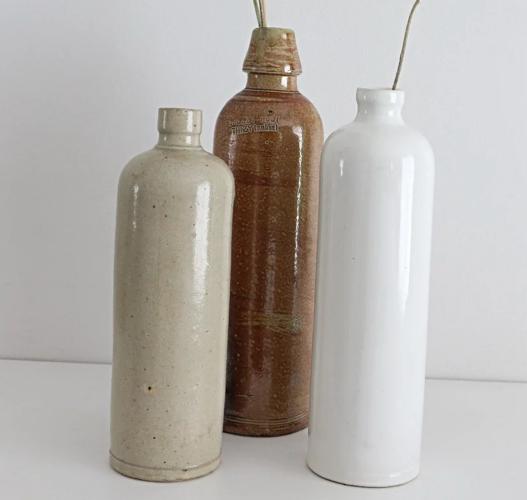 Bouteille ceramique blanche