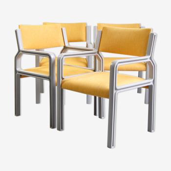 Suite de 4 chaises FP3007 de Pierre Mennen pour Pastoe 1970s