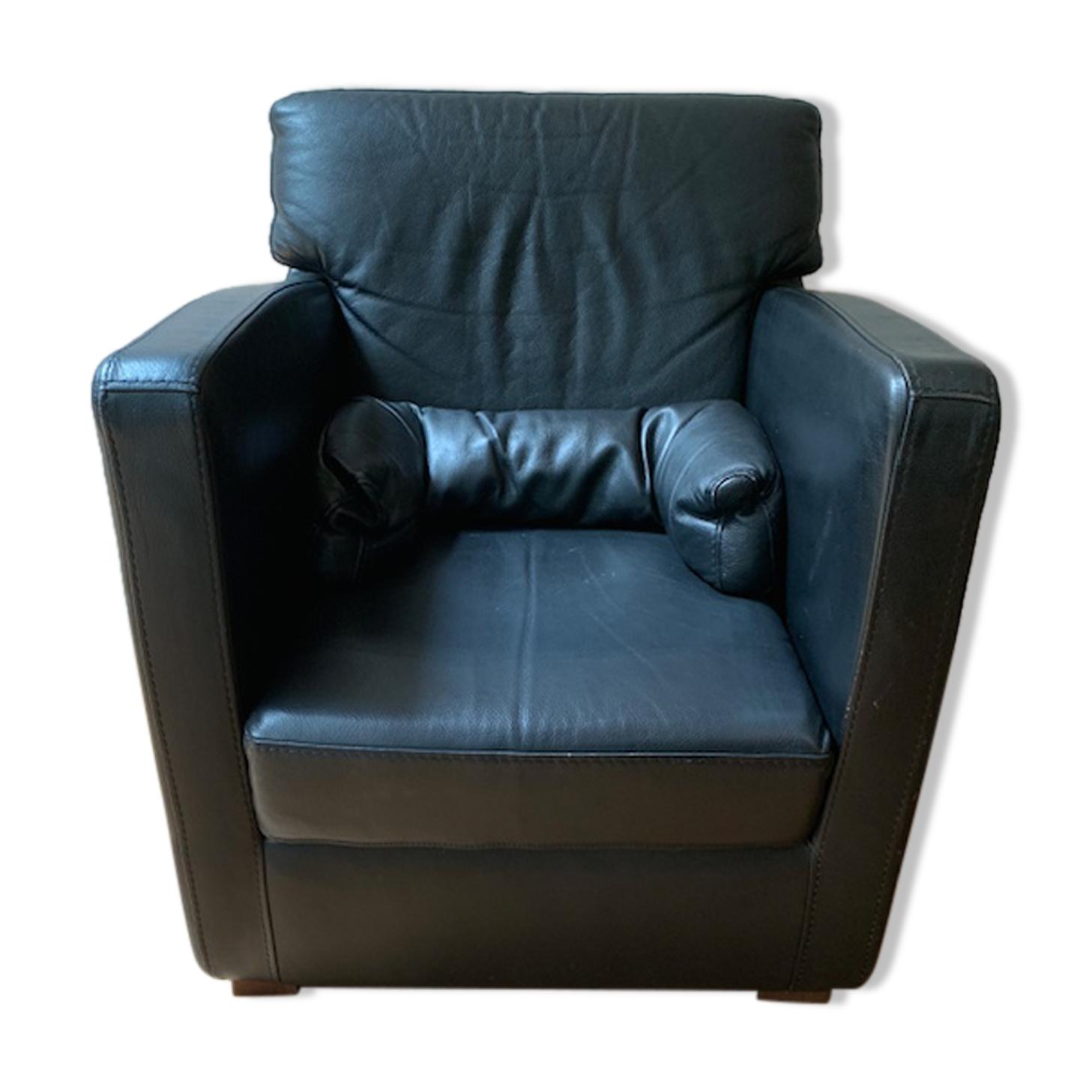 fauteuil cuir  Roche Bobois années 1998