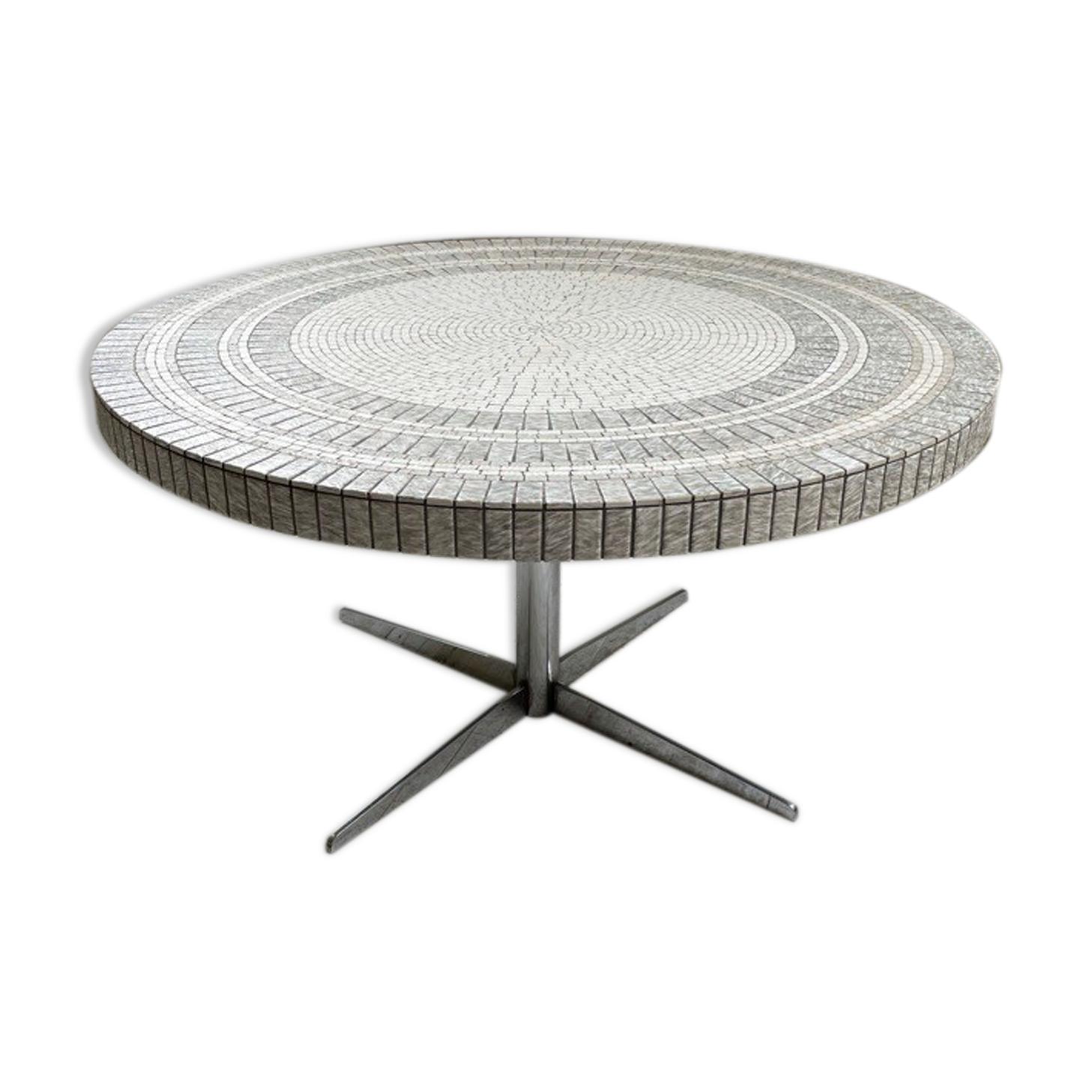 Table basse Heinz Lilienthal mosaïque marbre