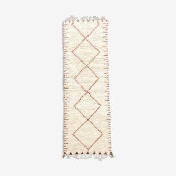 Carpet berbere corridor beni ourain 85x340