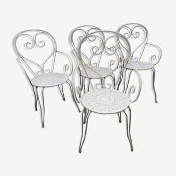 Lot de 4 fauteuils de jardin pour salon