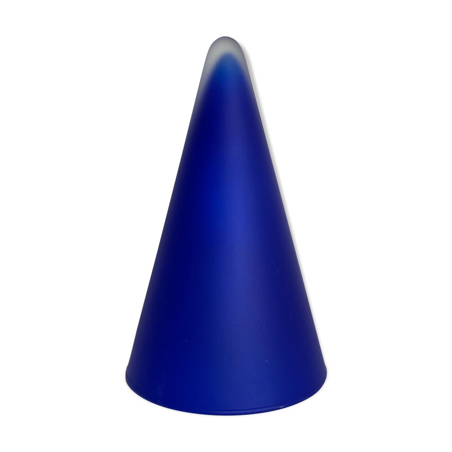Lampe teepee verre bleu tipi cone conique sce habitat 80