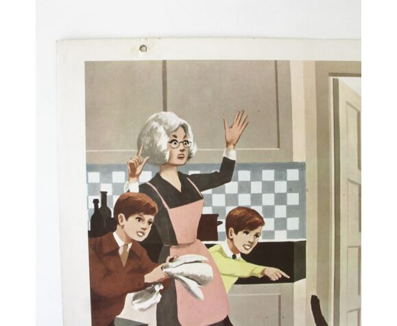 Ancienne affiche scolaire Fernand Nathan 1967 - vie quotidienne n°5 -