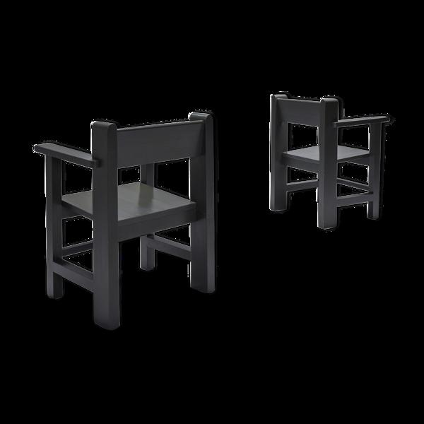 Paire de fauteuils modernistes néerlandais de Gerard Wijnen - années 1950