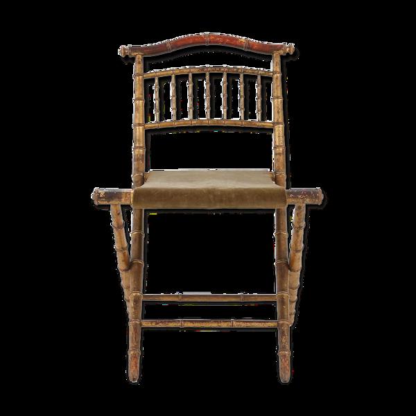 Selency Chaise régence Faux bamboo