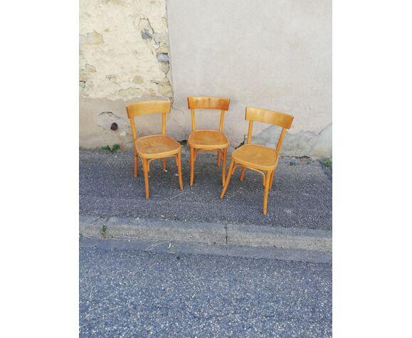 Set de 3 chaises bistrot
